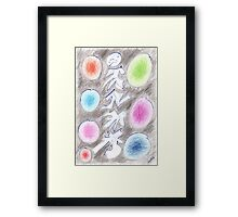 0305 - Aufstiegspfahl with colorful Spots Framed Print