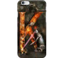 Steampunk - Alphabet - K is for Killer Robots iPhone Case/Skin