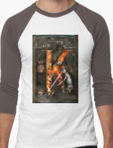 Steampunk - Alphabet - K is for Killer Robots Men's Baseball ¾ T-Shirt