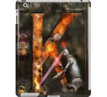 Steampunk - Alphabet - K is for Killer Robots iPad Case/Skin