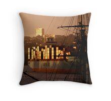 Maersk Line Throw Pillow