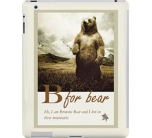 B for Bear, animal illustration iPad Case/Skin