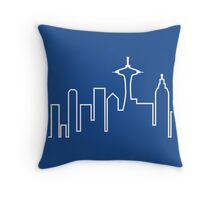 Frasier skyline t-shirt – Seattle, Seahawks, Frasier Crane Throw Pillow