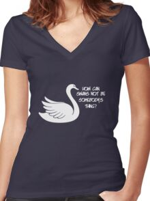 How can swans not be somebody's thing? Women's Fitted V-Neck T-Shirt