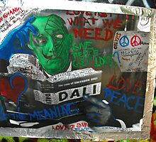 John Lennon Peace Wall in Prague by Chas Fullerton