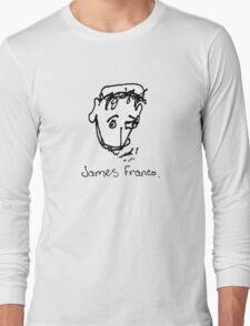 A portrait of James Franco Long Sleeve T-Shirt