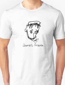 A portrait of James Franco Unisex T-Shirt