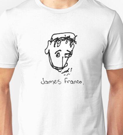 A portrait of James Franco Unisex T-Shirt