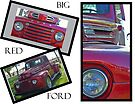 Big Red Ford Collage by WolfPause