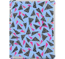 Throwback 80's style retro pattern design geometric triangles neon art abstract iPad Case/Skin