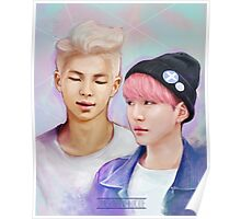 BTS Rap Monster & Suga Pastel Poster