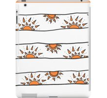 endless orange suns iPad Case/Skin