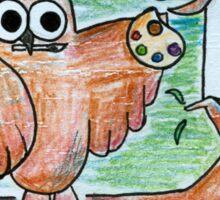 Artist Owl Sticker