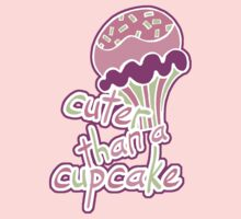 Pink Cuter than a Cupcake Kids Tee
