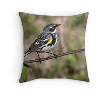 Myrtle / Yellow Rumped Warbler Throw Pillow
