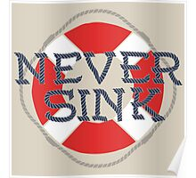 Never Sink  Poster