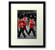 Queen's Guards Band: Trooping the Colour, London. Framed Print