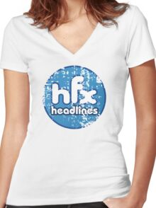 HFX Headlines - Pretend To Wear The Truth Women's Fitted V-Neck T-Shirt