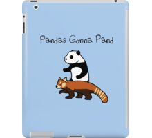 Pandas and Red Pandas Gonna Pand iPad Case/Skin