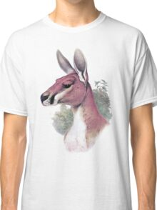 Red kangaroo portrait Classic T-Shirt