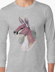 Red kangaroo portrait Long Sleeve T-Shirt
