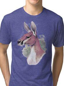 Red kangaroo portrait Tri-blend T-Shirt