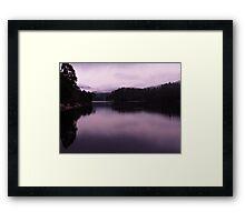 Morning, Lake Rosebery Framed Print