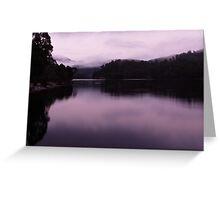Morning, Lake Rosebery Greeting Card