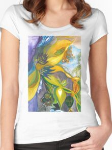 Waterlily Masquerade Women's Fitted Scoop T-Shirt