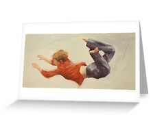 Trampoline Boy Part 1 Greeting Card