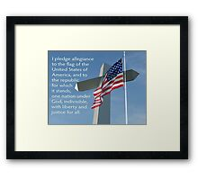 One Nation Under God Framed Print
