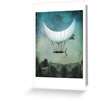 The Moon Ship Greeting Card