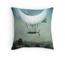 The Moon Ship Throw Pillow