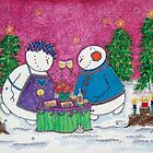 Snowman Wine Date by Cathy Moody