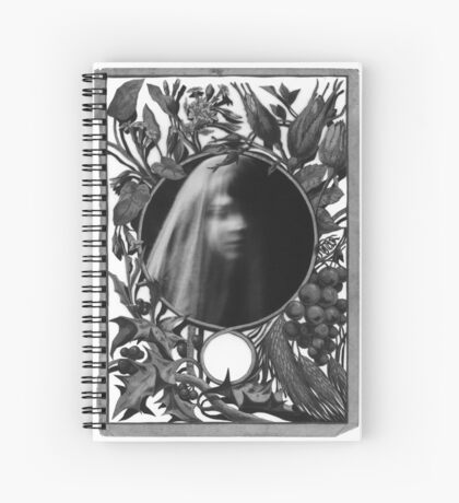 Garden Of  Grief : Paper Bunnies & Light Witch  Spiral Notebook