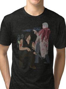 Carol Peletier and Daryl Dixon (Version 2) - The Walking Dead Tri-blend T-Shirt