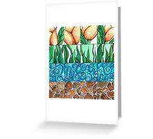 Tulips Growing Greeting Card
