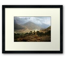 The Mountains that Fill my Life. Framed Print