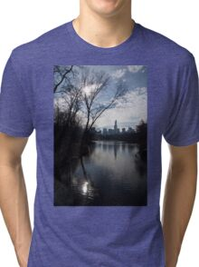 New York City Central Park Reflections, Ripples and Shine Tri-blend T-Shirt