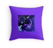 Dark Blue Whirlpool in Space Throw Pillow