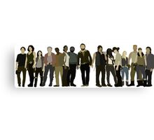 The Walking Dead Cast Canvas Print