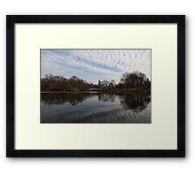 New York City Central Park Bow Bridge Quiet Reflections Framed Print