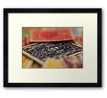 Macro Stamps Framed Print