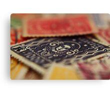 Macro Stamps Canvas Print