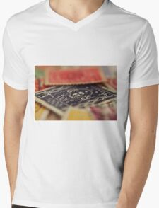 Macro Stamps Mens V-Neck T-Shirt