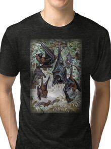 Indian Flying-fox painting  Tri-blend T-Shirt