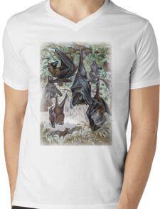 Indian Flying-fox painting  Mens V-Neck T-Shirt