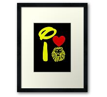 I Heart The Lion King (Gold) Framed Print