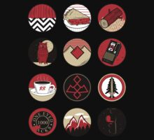 Iconic: Twin Peaks One Piece - Short Sleeve