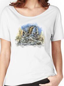 Prague angels sculpture Women's Relaxed Fit T-Shirt